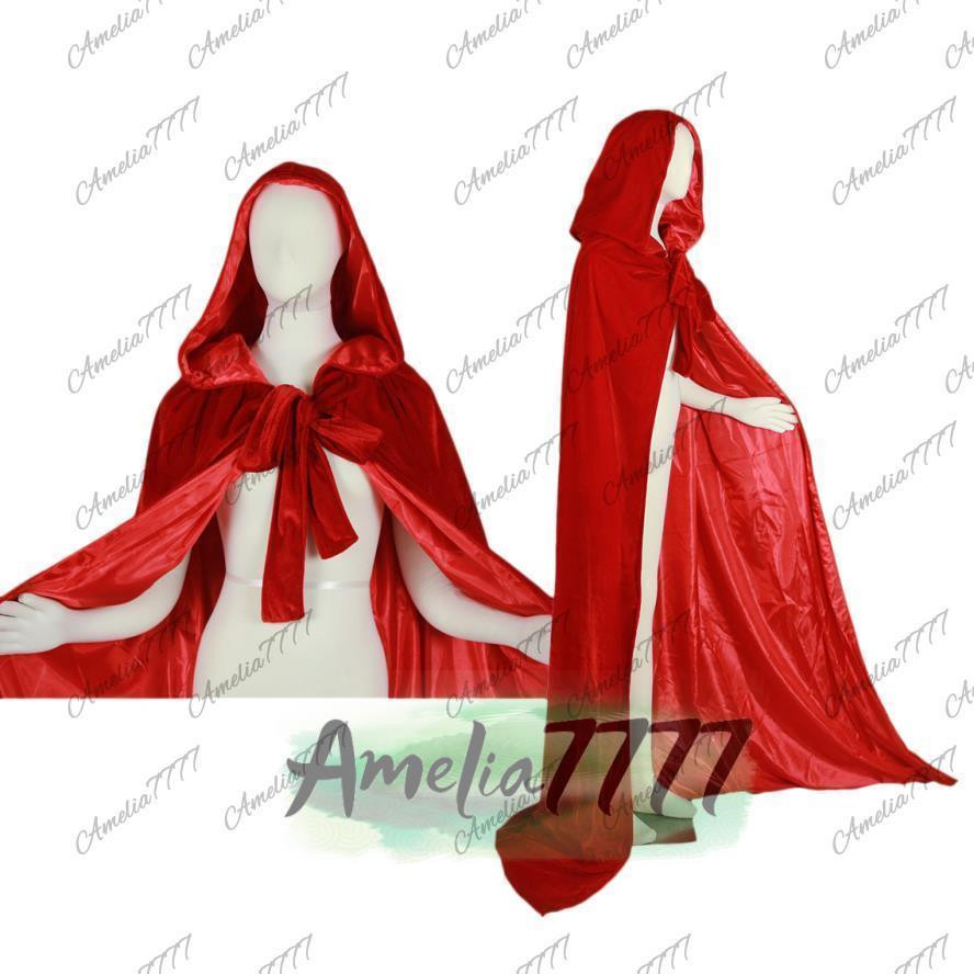 Red Hooded Cape Fresh New Halloween Red Hooded Cloak Velvet Cape Wedding Wicca Of Perfect 49 Photos Red Hooded Cape