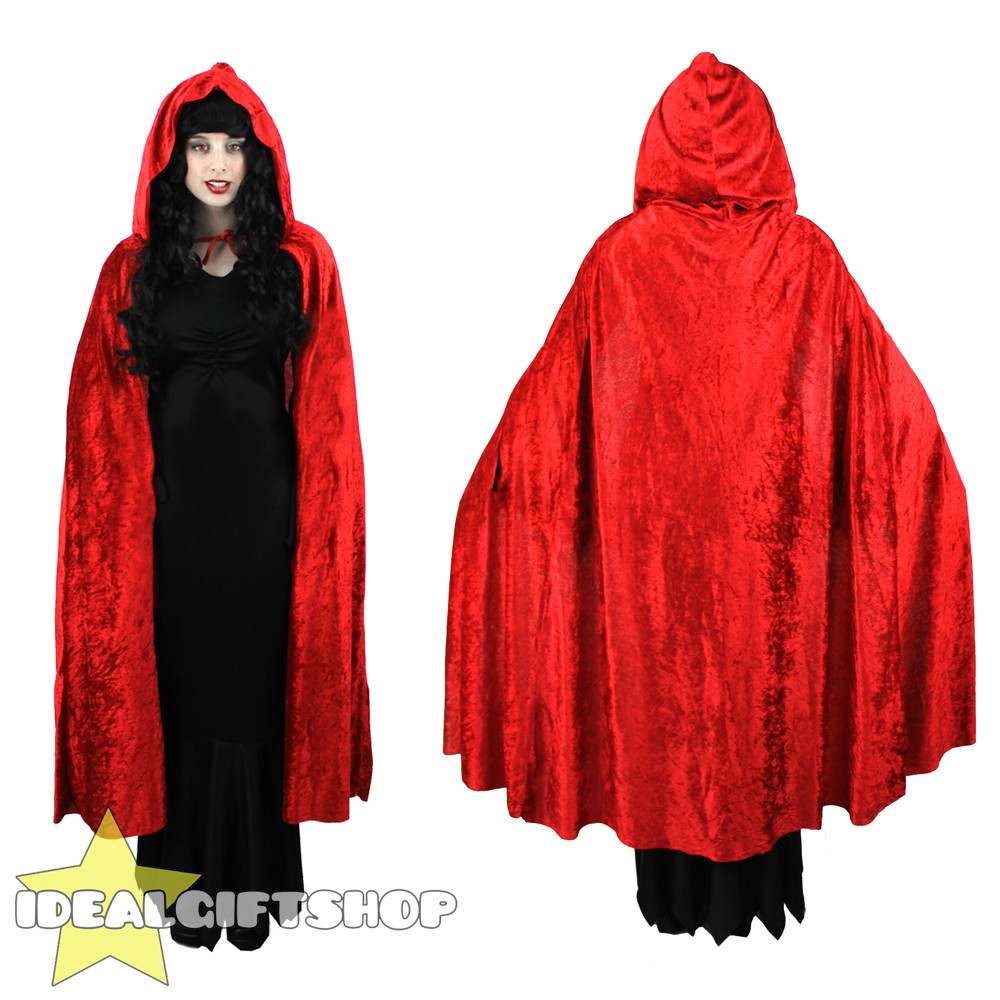 Red Hooded Cape Fresh Red Hooded Velour Cape Vampire Halloween Adults Fancy Of Perfect 49 Photos Red Hooded Cape