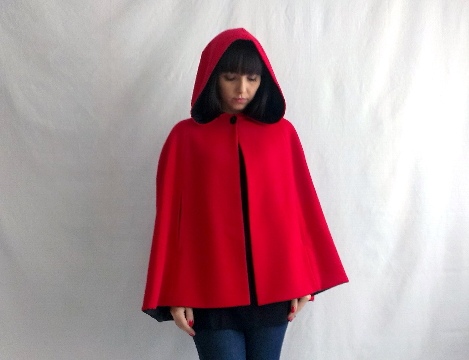 Red Hooded Cape Inspirational Petit Chaperon Rouge Cap Roux Cape De Laine Cape Adulte Peu Of Perfect 49 Photos Red Hooded Cape