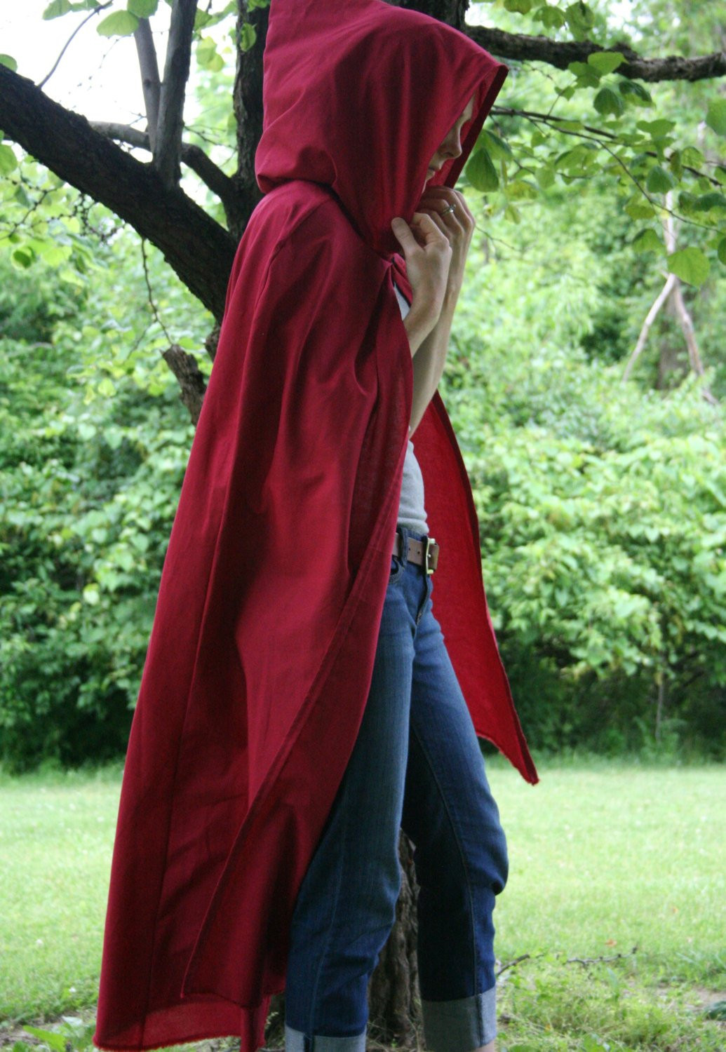 Red Hooded Cape Lovely Hooded Cloak Adult Red Of Perfect 49 Photos Red Hooded Cape