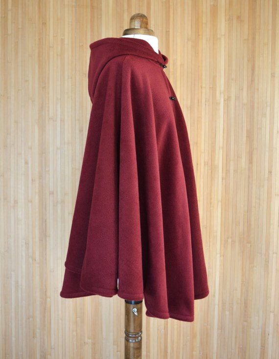 Red Hooded Cape New Burgundy Hooded Cloak Dark Red Hooded Cape Plus by Of Perfect 49 Photos Red Hooded Cape