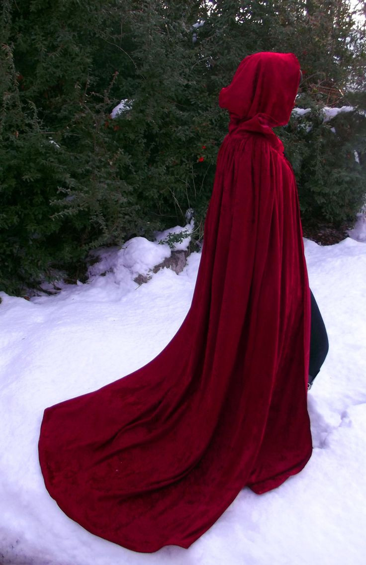 Red Hooded Cape New Red Crushed Velvet Fully Lined Cloak Of Perfect 49 Photos Red Hooded Cape