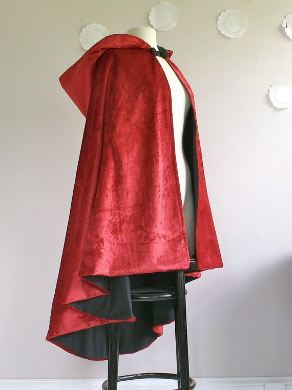 Red Hooded Cape New Red Riding Hood Cape Velvet Hooded Long Cape Of Perfect 49 Photos Red Hooded Cape