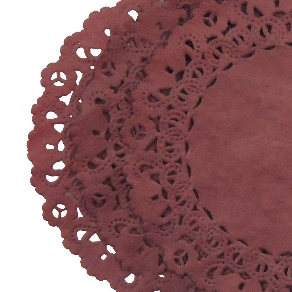 """BARN RED PAPER Lace DOILIES 4"""" 6"""" 8"""" 10"""" 12"""""""