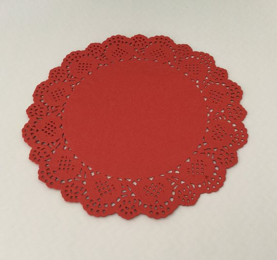 Red doilies paper doily craft scrapbooking Valentine s