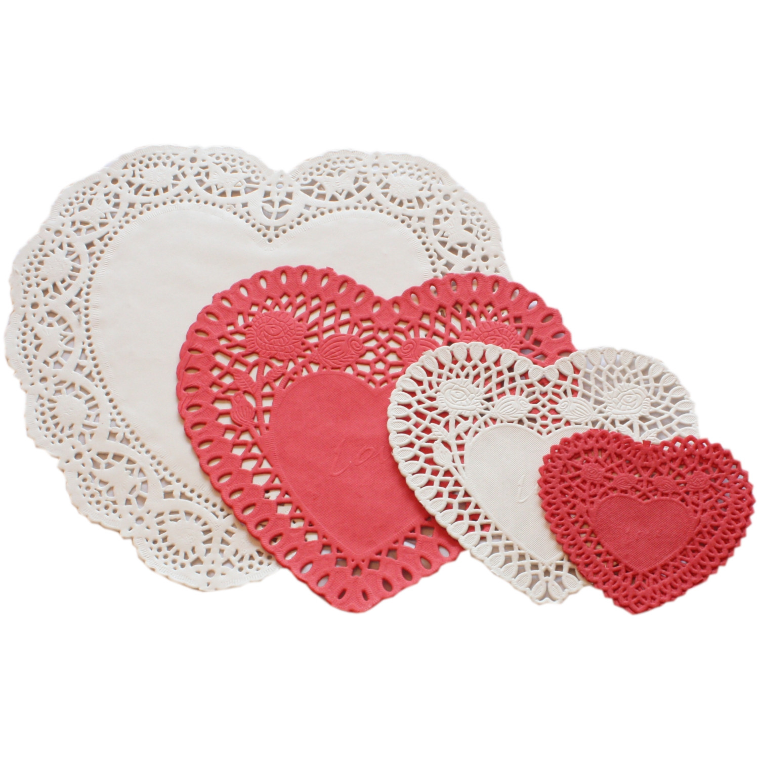Red Paper Doilies Fresh 24 Red and Cream Heart Shaped Paper Doilies Doyleys Doily Of Great 49 Images Red Paper Doilies