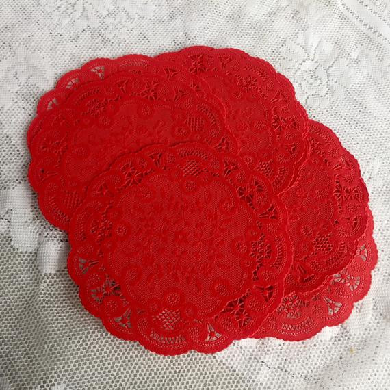 Red Paper Doilies Inspirational Vintage Red Paper Doilies Hallmark Red Paper Lace Doily Set Of Great 49 Images Red Paper Doilies