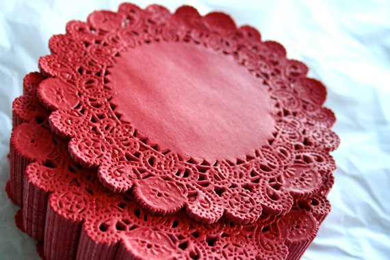"""Red Paper Doilies Luxury 50 Round 5"""" Dark Red French Lace Paper Doilies From Of Great 49 Images Red Paper Doilies"""