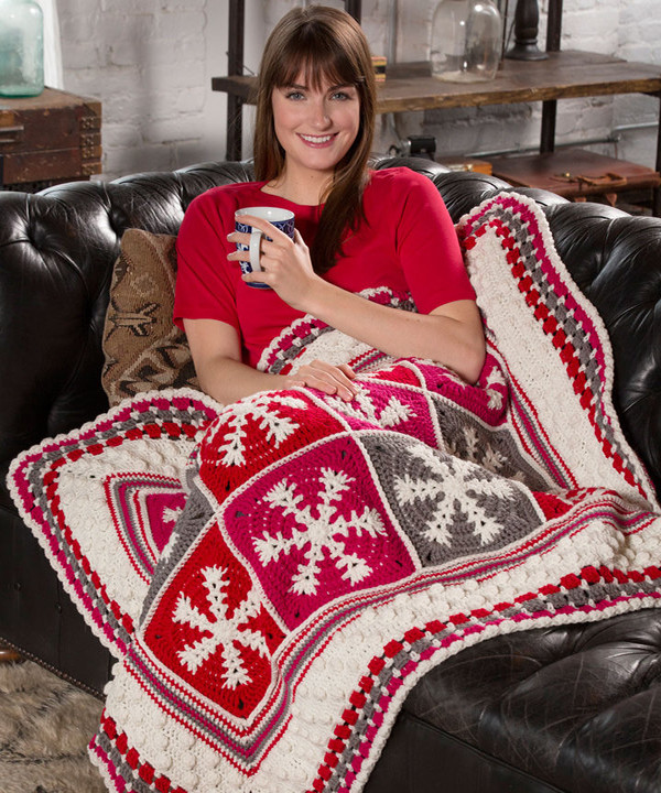 Redheart Free Patterns Awesome Free Snowflake Throw Crochet Pattern From Redheart Of Top 37 Pictures Redheart Free Patterns