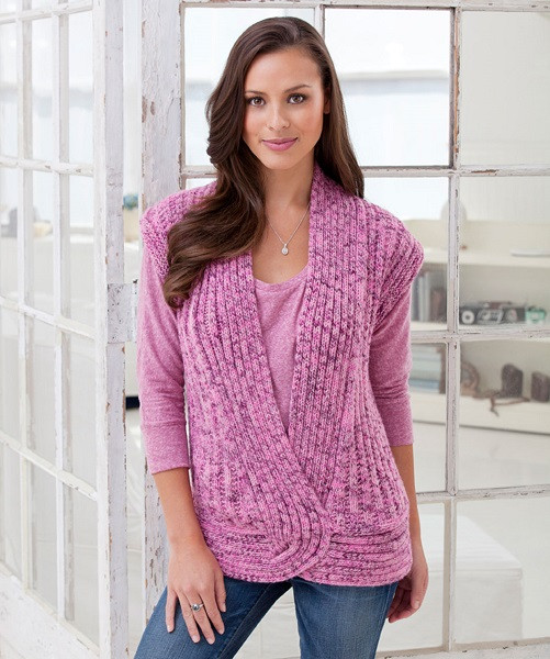 Redheart Free Patterns Luxury Red Heart Rib and Twist Vest Knitting Pattern Free Of Top 37 Pictures Redheart Free Patterns
