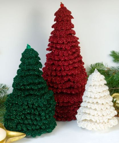 Redheart Free Patterns New Red Heart Holiday Ruffle Fir Trees Crochet Pattern Free Of Top 37 Pictures Redheart Free Patterns
