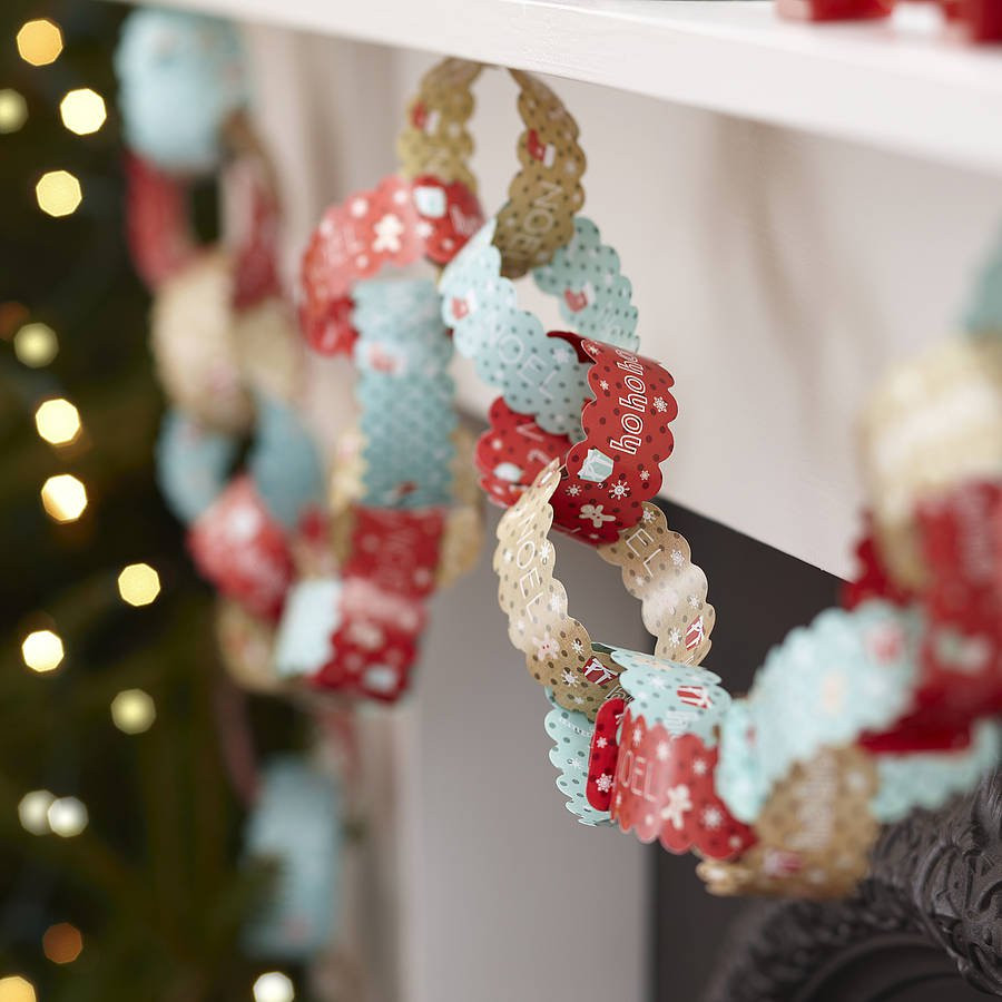 Retro Christmas Decorations Fresh Ten Metres Vintage Christmas Paper Chain Decorations by Of Brilliant 48 Pics Retro Christmas Decorations