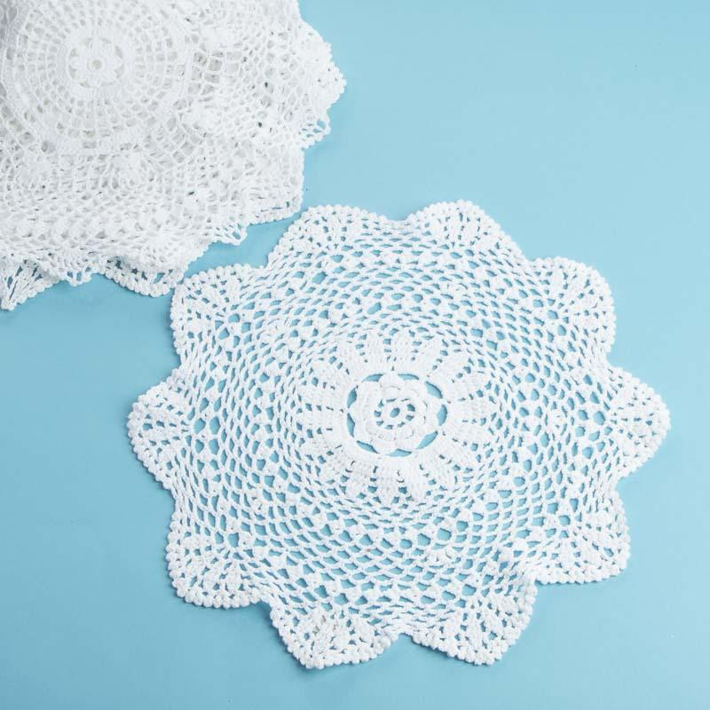 White Round Crocheted Doilies Crochet and Lace Doilies