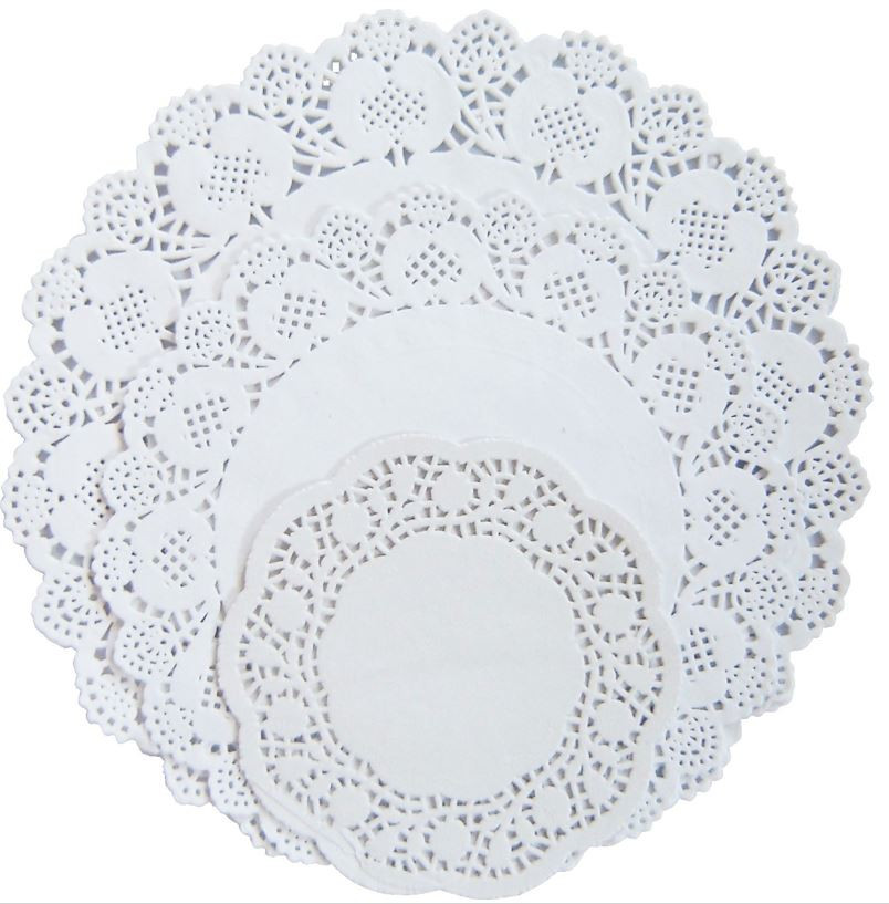 Round White Paper Doilies Paper & Card Paper