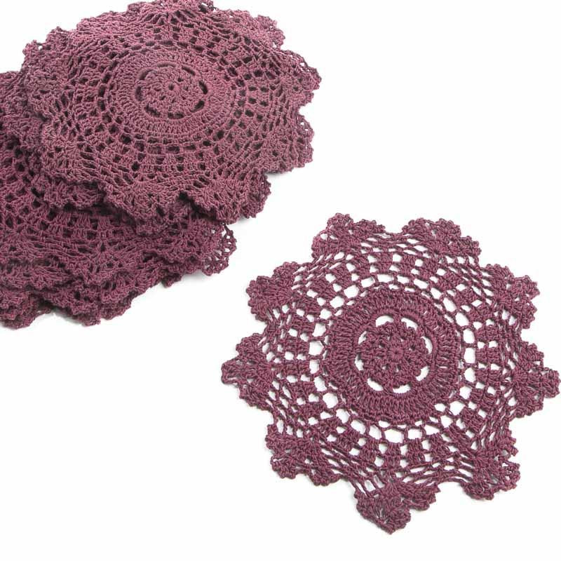 Round Doilies Fresh Burgundy Round Crocheted Doilies Crochet and Lace Of Contemporary 43 Ideas Round Doilies