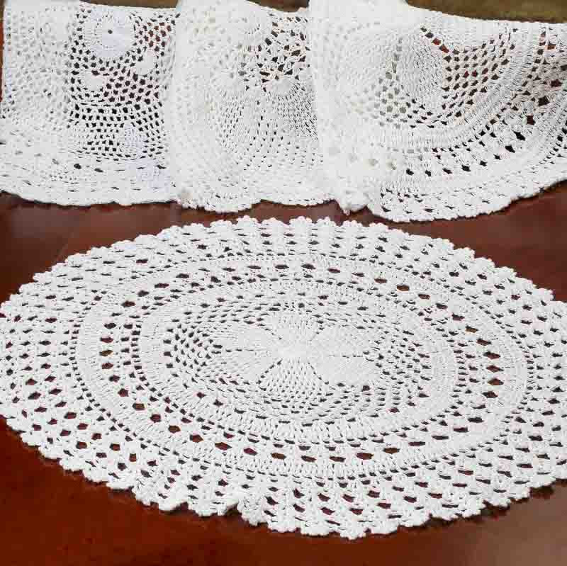 """Round Doilies Lovely 16"""" White Round Crocheted Doily Crochet and Lace Doilies Of Contemporary 43 Ideas Round Doilies"""