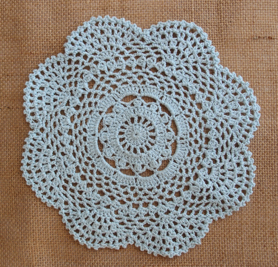 """Round Doilies Lovely 8"""" Round Handmade Cotton Crochet Doilies Arctic Spa Blue Of Contemporary 43 Ideas Round Doilies"""