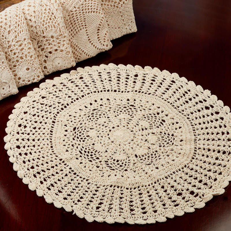 Round Doilies Luxury Ecru Round Crocheted Doily Crochet and Lace Doilies Of Contemporary 43 Ideas Round Doilies
