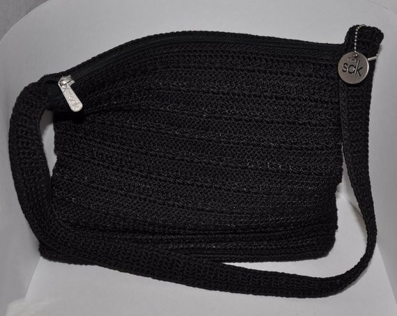 Sak Crochet Bags Awesome the Sak Black Shoulder Strap Crochet Purse Of Amazing 41 Models Sak Crochet Bags