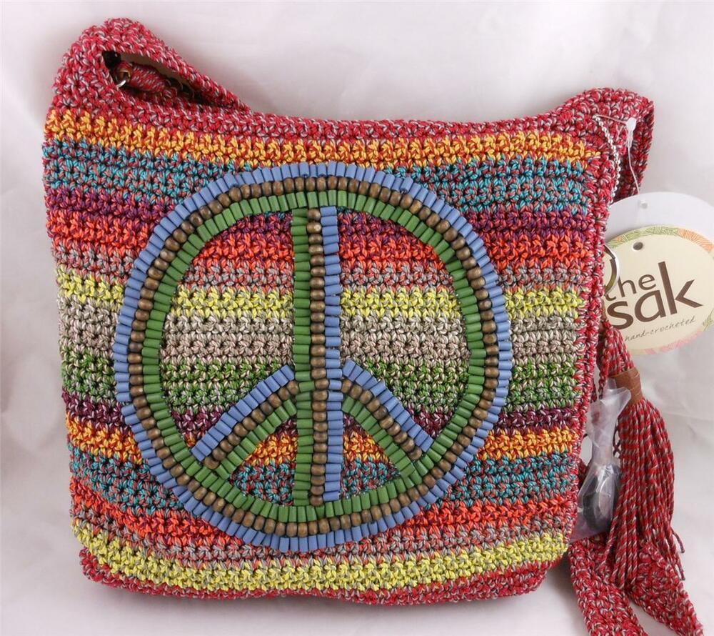 Sak Crochet Bags Awesome the Sak Crochet Casual Peace Gypsy Stripe Crossbody Bag Of Amazing 41 Models Sak Crochet Bags