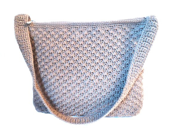 Sak Crochet Bags Beautiful the Sak Taupe Crochet Handbag Vintage Purse by Of Amazing 41 Models Sak Crochet Bags