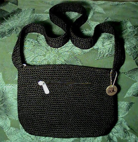 Sak Crochet Bags Elegant the Sak Black Crochet Handbag Shoulder Bag Purse Of Amazing 41 Models Sak Crochet Bags