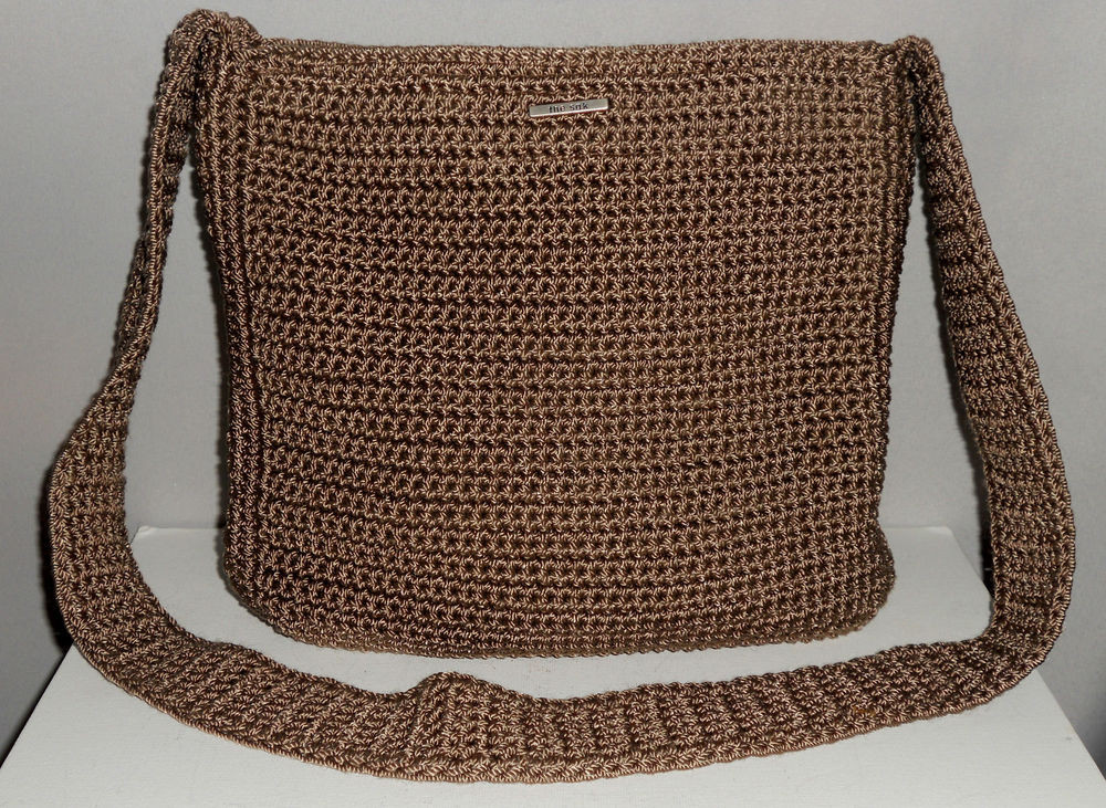 Sak Crochet Bags Elegant the Sak Taupe Color Crocheted Nylon Bag Purse Handbag Of Amazing 41 Models Sak Crochet Bags