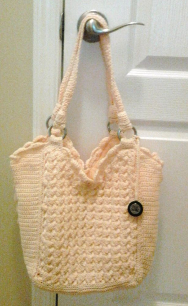 THE SAK Casual Classic Crochet Yellow Shoulder Hobo