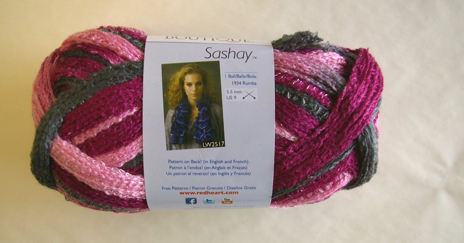 Knit In Your Sleep Sashay yarn colors from red heart