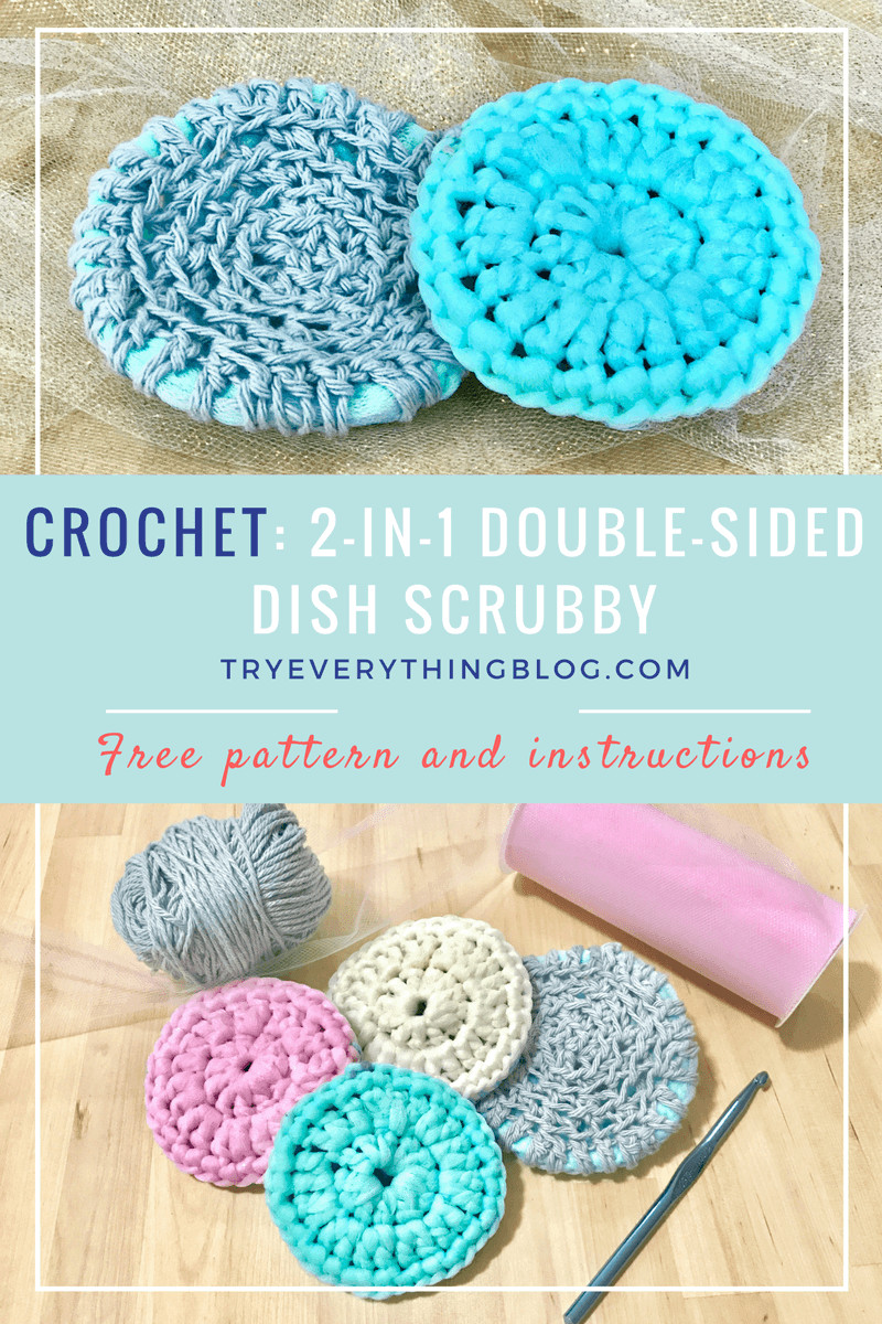 Scrubby Dishcloth Pattern Elegant 2 In 1 Dish Scrubby Free Crochet Pattern No More Sponges Of Contemporary 35 Pics Scrubby Dishcloth Pattern