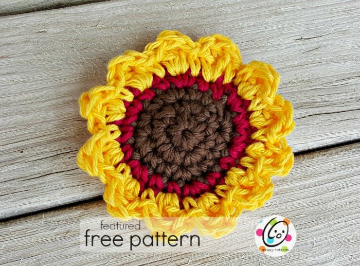 Featured Free Pattern Sunflower Tawashi Snappy Tots