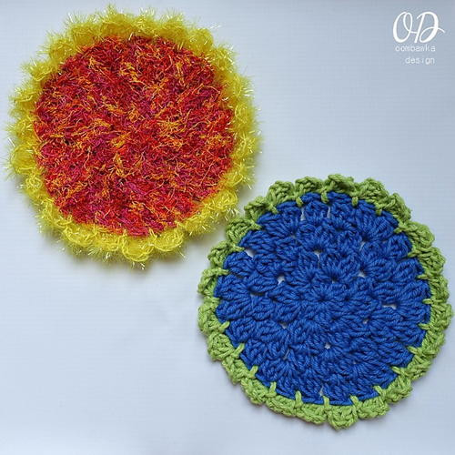 Sunflower Scrubby Cloth