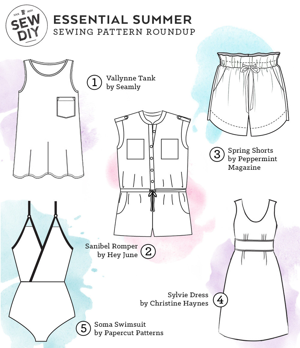 Sew Patterns Unique 5 Essential Summer Sewing Patterns — Sew Diy Of New 44 Pictures Sew Patterns