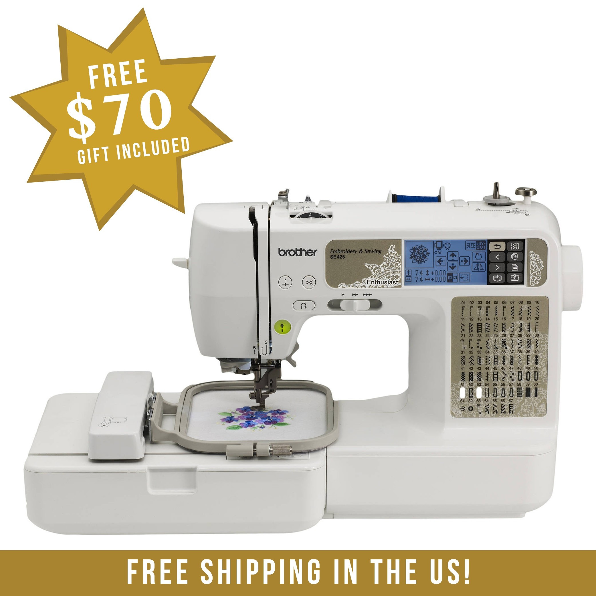 Brother SE425 puterized Sewing and Embroidery Machine