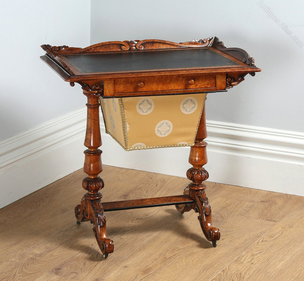 Sewing Table Awesome Victorian Burr Walnut & Leather Sewing Table Antiques atlas Of Unique 46 Pictures Sewing Table