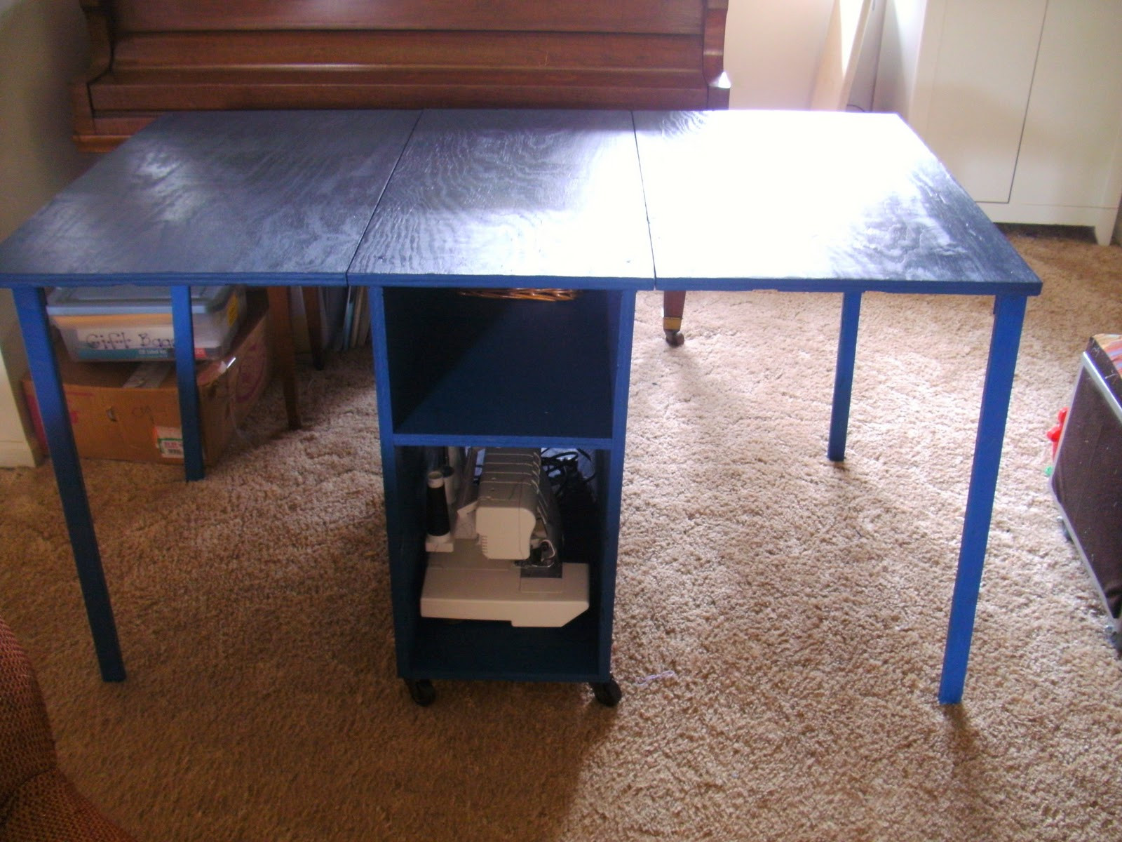 """Sewing Table Elegant Sew Homegrown Sewing """"room"""" Redo Of Unique 46 Pictures Sewing Table"""