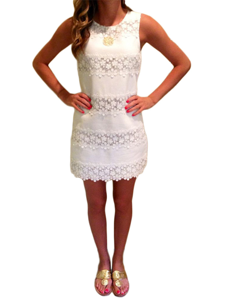 Sexy Crochet Dress Beautiful Y Women Summer Sleeveless Lace Crochet Stitching Mini Of Awesome 45 Pictures Sexy Crochet Dress