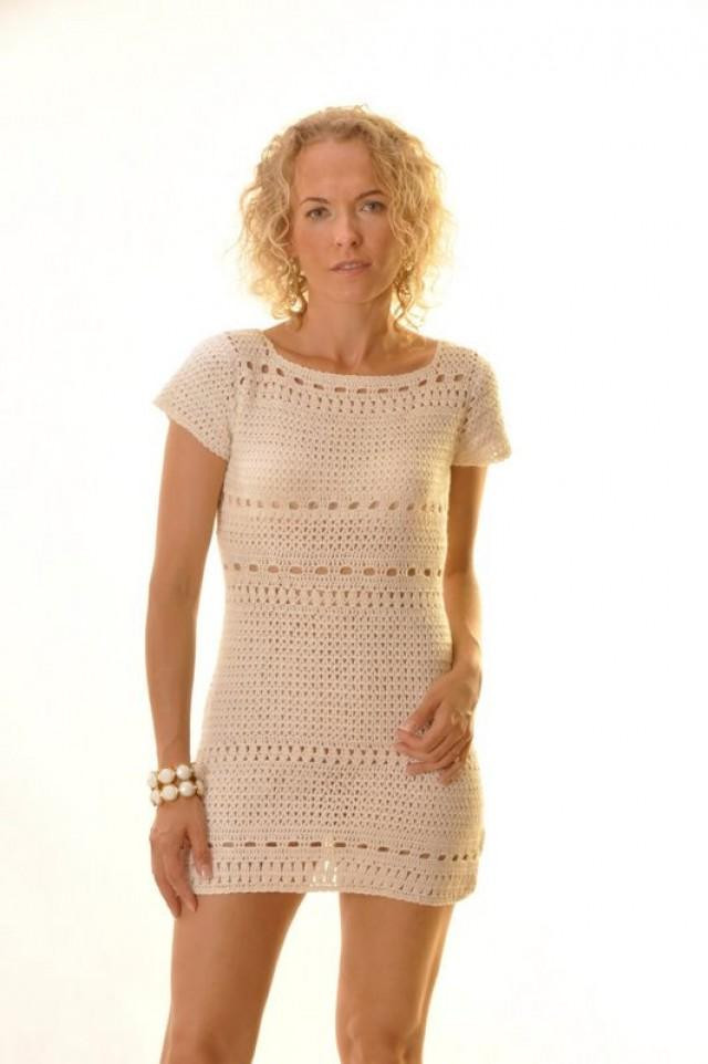 Sexy Crochet Dress Fresh Y Cream Dress Custom Crocheted Dress Tunic Elegant Of Awesome 45 Pictures Sexy Crochet Dress