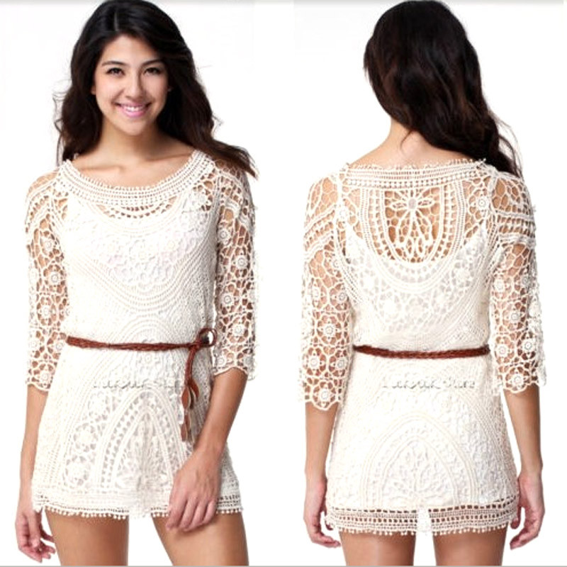 Sexy Crochet Dress Unique Y Women Lady Lace Crochet Hollow Bikini Cover Up Of Awesome 45 Pictures Sexy Crochet Dress