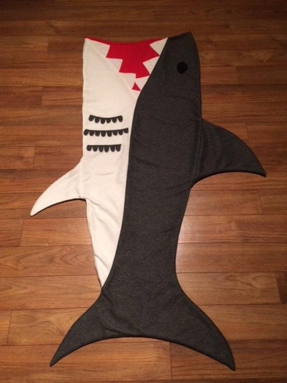 Shark Blanket Pattern Awesome Items Similar to original Shark attack Blanket On Etsy Of New 46 Pics Shark Blanket Pattern