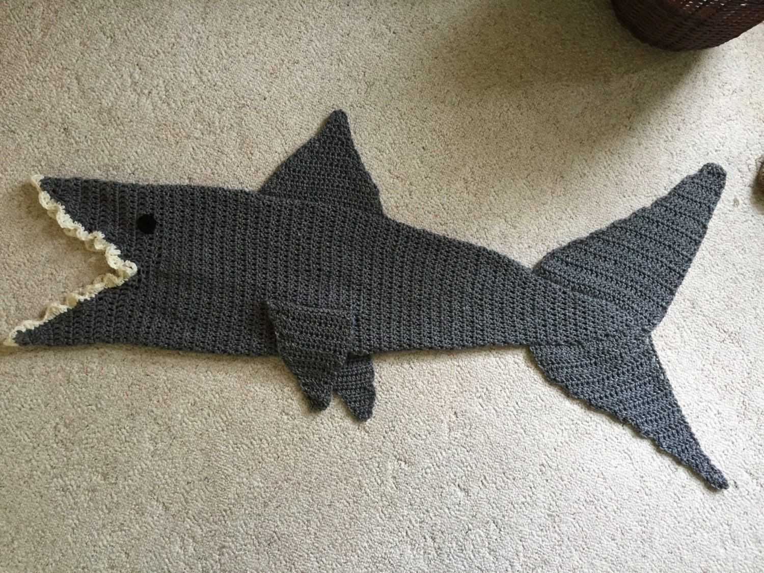 Shark Blanket Pattern Beautiful Crochet Shark Blanket Google Search Of New 46 Pics Shark Blanket Pattern