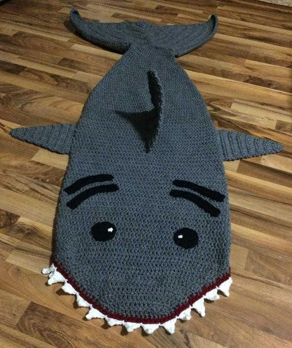 Shark Blanket Pattern Beautiful Crochet Shark Sleep Sack Pattern Of New 46 Pics Shark Blanket Pattern