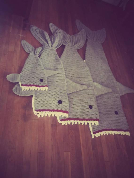 Shark Blanket Pattern Inspirational Crochet Shark Blanket Cocoon Wrap Snuggie Cozy Of New 46 Pics Shark Blanket Pattern