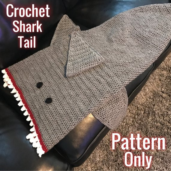 Shark Blanket Pattern Inspirational Crochet Shark Tail Blanket Pdf File Download Pattern Only Of New 46 Pics Shark Blanket Pattern