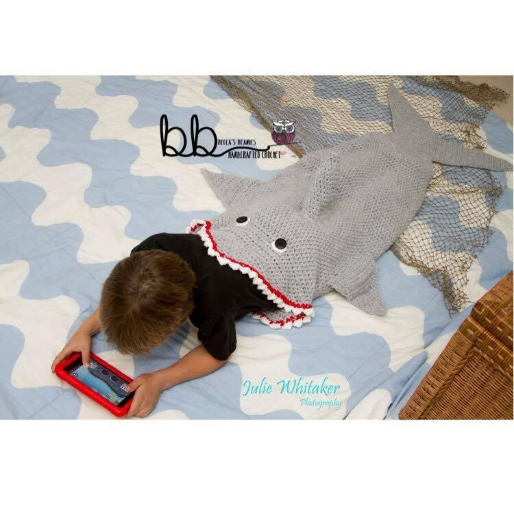 Shark Blanket Pattern New Shark Tail Blanket Crochet by Becca Romero Craftsy Of New 46 Pics Shark Blanket Pattern