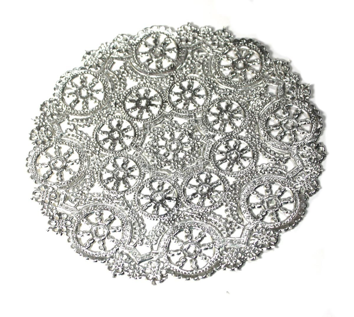 Silver Doilies Awesome 50 Silver 10 Round Paper Doilies Metallic Paper Of Top 47 Pictures Silver Doilies