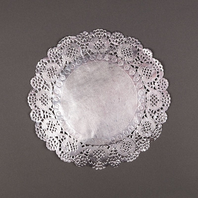"Silver Doilies Awesome 8 5"" Round Silver Foil Doilies Placemats Metallic 50 Of Top 47 Pictures Silver Doilies"