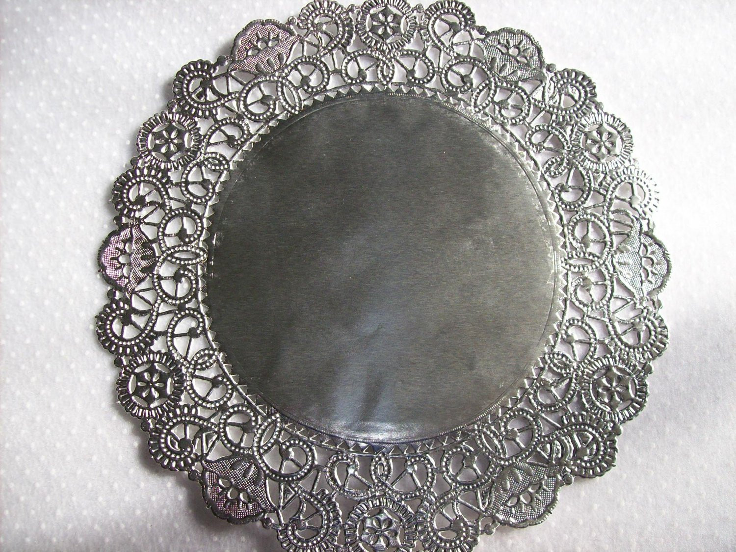 Silver Doilies Awesome Silver Foil 10 Doilies 6 Pack Scrapbook Supply by Ljbminis2021 Of Top 47 Pictures Silver Doilies