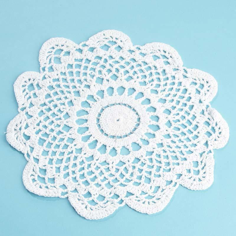 Silver Doilies Beautiful Round Silver Accented Cream Crocheted Doily Crochet and Of Top 47 Pictures Silver Doilies