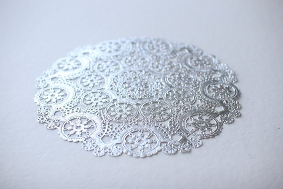 Silver Doilies Best Of 10 Metallic Silver 12 Round Medallion Doilies Foil Lace Of Top 47 Pictures Silver Doilies